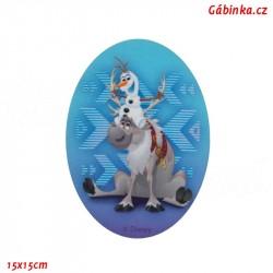 Záplata nažehlovací Ledové království 6 - Olaf a Sven, 15x15 cm