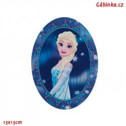 Záplata nažehlovací Ledové království 8 - Elsa, 15x15 cm