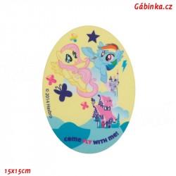 Záplata nažehlovací My Little Pony 1 - Come Fly with Me, 15x15 cm