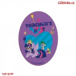 Záplata nažehlovací My Little Pony 2 - Teacher's Pet, 15x15 cm