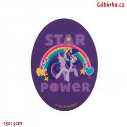 Záplata nažehlovací My Little Pony 3 - Star Power, 15x15 cm