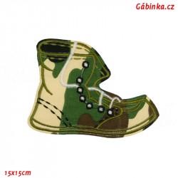 Nažehlovačka - Maskáčová bota světlá, 15x15 cm
