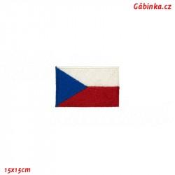 Nažehlovačka - Česká vlajka, 15x15 cm