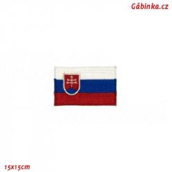 Nažehlovačka - Slovenská vlajka, 15x15 cm