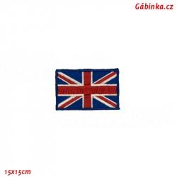 Nažehlovačka - Britská vlajka, 15x15 cm