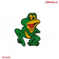 Iron-On Patch - Big Frog, 15x15 cm