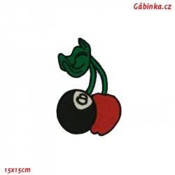 Iron-On Patch - Cherries, 15x15 cm