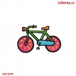 Iron-On Patch - Bike, 15x15 cm