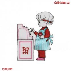 Nažehlovačka - Holčička s růžovou pokladnou