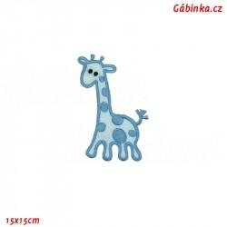 Iron-On Patch - Blue Giraffe