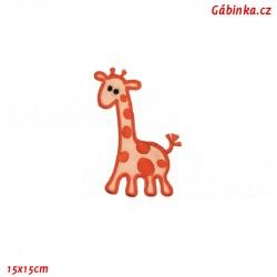 Iron-On Patch - Orange Giraffe