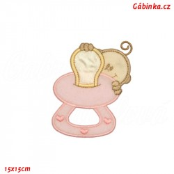 Iron-On Patch - Pink Pacifier