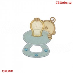 Iron-On Patch - Blue Pacifier