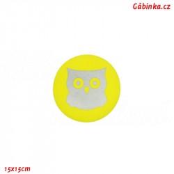Nášivka NEON žlutá - Reflexní sova