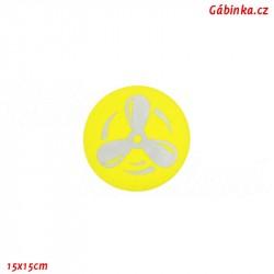 Nášivka NEON žlutá - Reflexní vrtule