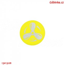 Sew-On Patch NEON Yellow - Reflective Propeller