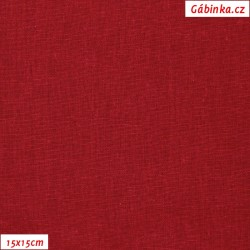 Len s viskózou ITALY 28 - Červený, 15x15 cm