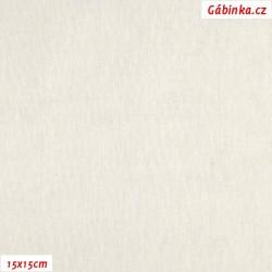 Len s viskózou ITALY 22 - Přírodně bílý, 15x15 cm