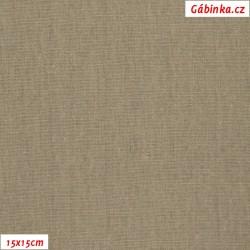 Linen with viscose ITALY 20 - Dark Beige, 15x15 cm
