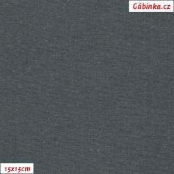 Len s viskózou ITALY 19 - Tmavě šedý, 15x15 cm