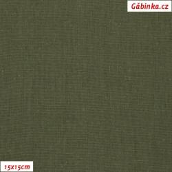 Linen with viscose ITALY 16 - Khaki, 15x15 cm