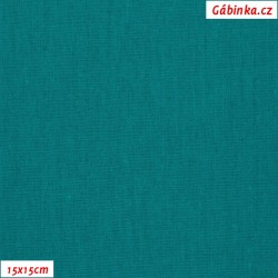 Linen with viscose ITALY 12 - Dark Turquoise, 15x15 cm