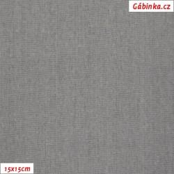 Len s viskózou ITALY 07 - Světle šedý, 15x15 cm