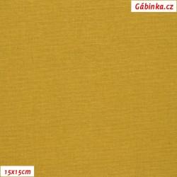 Len s viskózou ITALY 06 - Hořčicový, 15x15 cm