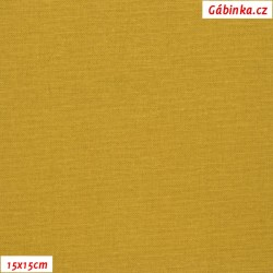 Linen with viscose ITALY 06 - Mustard, 15x15 cm