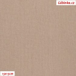 Linen with viscose ITALY 13 - Warm Beige, 15x15 cm