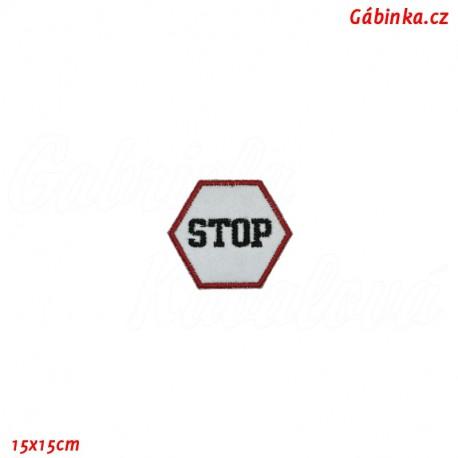 Nažehlovačka reflexní - Stop, 15x15 cm