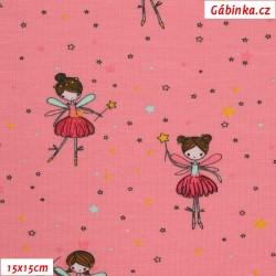 Úplet s EL POPPY - Baletky na růžové, 15x15 cm