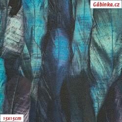 Koženka DSOFT 204 - Pírka modrá, 15x15 cm