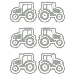 Reflexní nažehlovací potisk - Traktory I (6 ks)