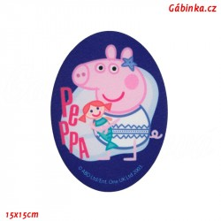Iron-On Knee Patch Peppa Pig 4 - Mermaid, 15x15 cm