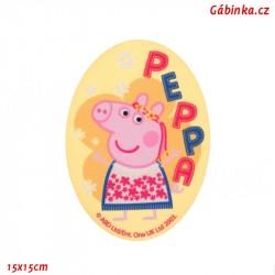 Nažehlovací záplata Prasátko Peppa 6 - Princezna, 15x15 cm