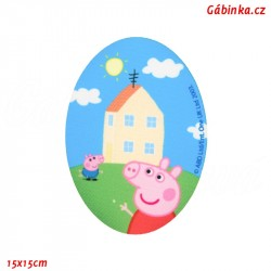 Iron-On Knee Patch Peppa Pig 7 - At the House with Tom, 15x15 cm