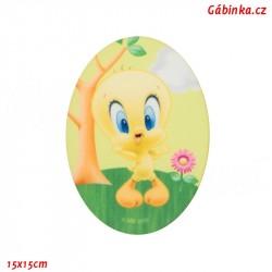 Nažehlovací záplata Baby Looney Tunes 2 - Tweety, 15x15 cm