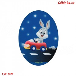 Iron-On Knee Patch Baby Looney Tunes 4 - Bugs Bunny Racer, 15x15 cm