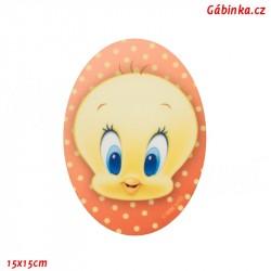 Iron-On Knee Patch Baby Looney Tunes 7 - Tweety, 15x15 cm