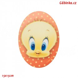 Nažehlovací záplata Baby Looney Tunes 7 - Tweety, 15x15 cm