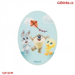 Iron-On Knee Patch Baby Looney Tunes 8 - Friends fly a kite, 15x15 cm