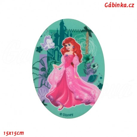 Iron-On Knee Patch Disney Princess 1 - Ariel, 15x15 cm