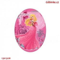 Nažehlovací záplata Disneyovské princezny 2 - Šípková Růženka, 15x15 cm