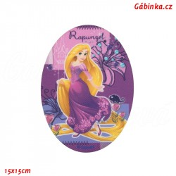 Nažehlovací záplata Disneyovské princezny 3 - Locika, 15x15 cm
