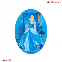 Nažehlovací záplata Disneyovské princezny 4 - Popelka, 15x15 cm