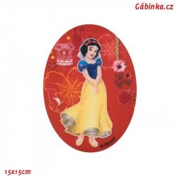 Nažehlovací záplata Disneyovské princezny 5 - Sněhurka, 15x15 cm