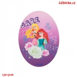 Nažehlovací záplata Disneyovské princezny 6 - Ariel a Šípková Růženka, 15x15 cm