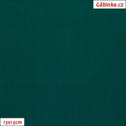 Silky, umělé hedvábí s elastanem - Tmavě zelené, 15x15 cm