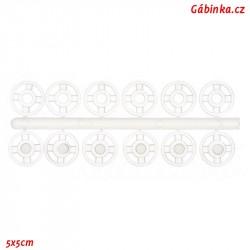 Stískací patenty plastové - Průhledné mini, průměr 7 mm, 6 ks